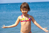 Beach vacation with kid — Stock Photo