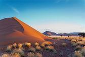 Prachtige zonsondergang duinen — Stockfoto