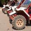 Stock Photo: Line up of offroad ATV