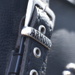 Stock Photo: Buckle on leather