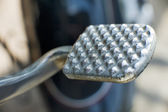 Gear shift moto pedal — Stock Photo