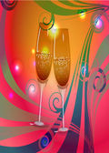 Toast champagne wine — Stock Vector