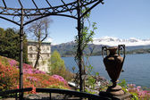 Spectacular view from historic Garden of Villa Carlotta — Stock Photo
