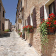 Pictorial narrow paved street - Foto Stock