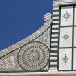 Detail of ornamental facade of church Santa Maria Novella — Stock Photo