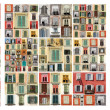 Abstract facade with many windows from Italy — Stock Photo