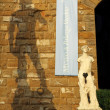 Silhouette of David's statue - Stock Photo