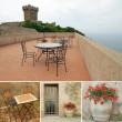 Romantic terrace — Stock Photo