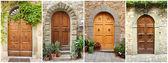 Tuscan dorways set — Stock Photo