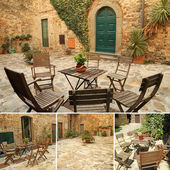 Italian terrace — Stock Photo