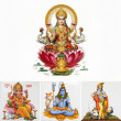 Composition with hindu gods — Stock Photo