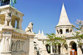 Fisherman's bastion in old town of Budapest, Hungary — Stock Photo