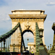 The Szechenyi Chain Bridge in Budapest, Hungary — Stock Photo