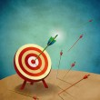 Archery Target with Arrows Illustration — Stock Photo #11117008