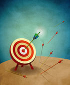 Archery Target with Arrows Illustration — Stock Photo