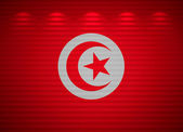 Tunisian flag wall, abstract background — Stock Photo
