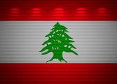 Parete bandiera libanese, astratto — Foto Stock
