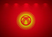 Kyrgyz flag wall, abstract background — Stock Photo