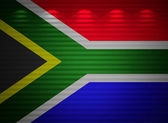 South Africa flag wall, abstract background — Stock Photo
