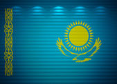 Kazakhstani flag wall, abstract background — Stock Photo