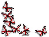 アラバマの旗蝶、白い背景で隔離 — ストック写真