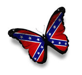 Confederate Rebel flag butterfly, isolated on white — Stock Photo