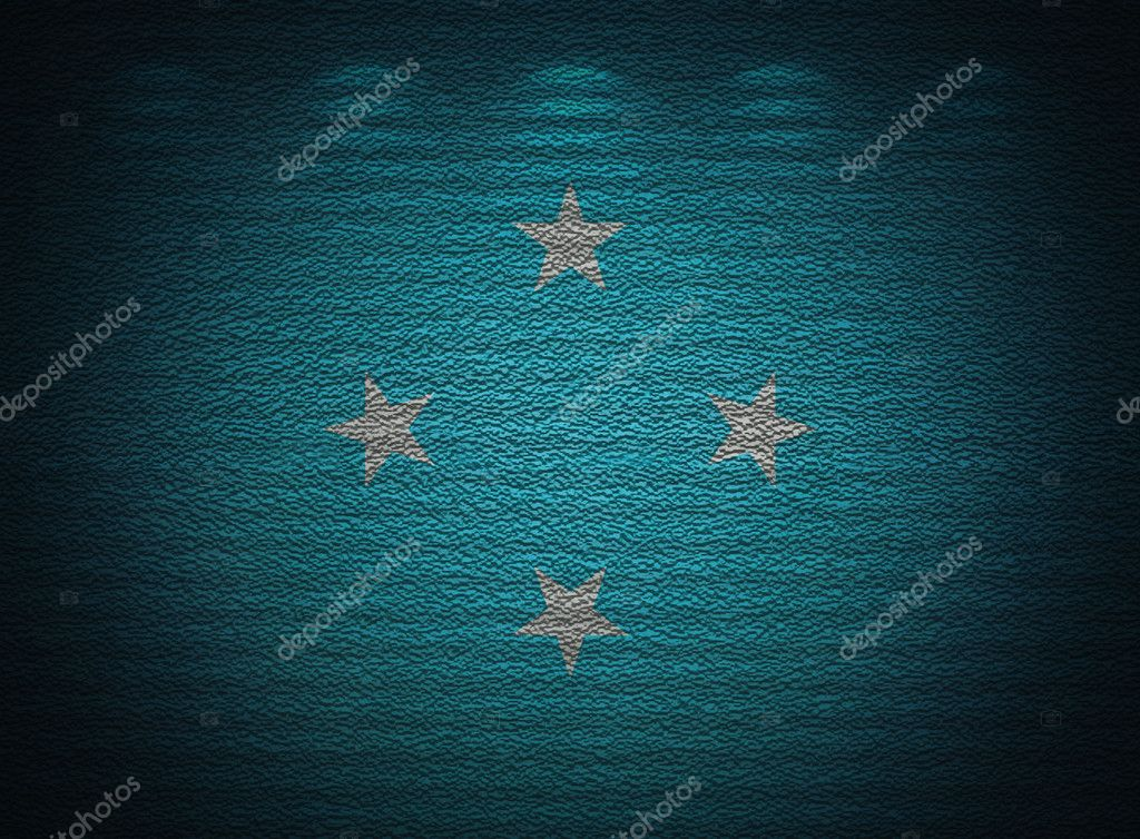 Micronesia flag wall, abstract grunge background — Stock Photo #11525437
