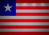 Liberia flag wall, abstract background — Stock Photo