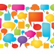 Stock Vector: Colorful speech bubbles