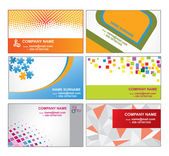 Set of business card templates — Stock Vector