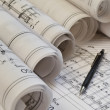Architectural blueprints project drawing — Stock Photo #11326595