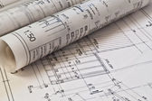 Planos arquitectónicos del proyecto dibujo — Foto de Stock