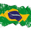 Grange Flag of Brazil — Stock Photo