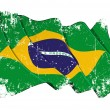 Grange Flag of Brazil - Stock Photo