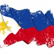 Grunge Flag of Philippines — Stock Photo