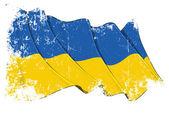 Bandera de grunge de ucrania — Foto de Stock