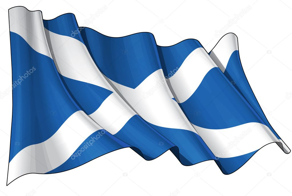 Waving Scotch flag, 6.8 x 4.5 kpxl top quality JPGs format with clipping path  — Stock Photo #11455699