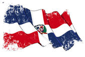 Dominican Republic Flag Grunge — Stock Photo