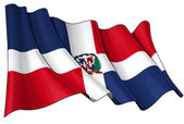 Dominican Republic Flag — Stock Photo