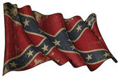 Confederate Rebel Historic flag — Stock Photo