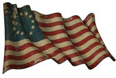 USA Betsy Ross Historic Flag — Stock Photo