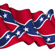 Stock Photo: Confederate Rebel flag