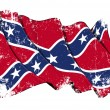 Stock Photo: Confederate Rebel flag Grunge