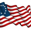 USA Betsy Ross flag — Stock Photo #11815290