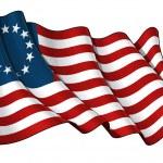 USA Betsy Ross flag — Stock Photo