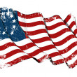USA Betsy Ross flag Grunge — Stock Photo