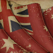 Australian Red Ensign Old Paper — Stock Photo