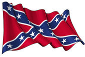 Confederate Rebel flag — Stock Photo