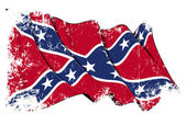 Confederate Rebel flag Grunge — Stock Photo
