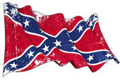 Confederate Rebel flag Scratched — Stock Photo